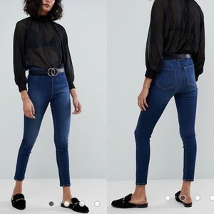 Free People Ultra High Pull On Skinny Jeans